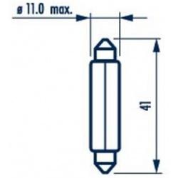 Lemputė T10,5x43