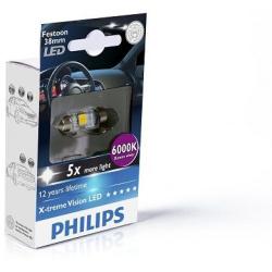 Lemputė LED T10,5x38 6000K Festoon X-tremeVision