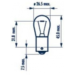Lemputė P21W