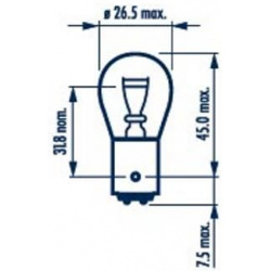 Lemputė P21/4W