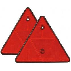 Atšvaitas trikampis raudonas prisukamas kpl.