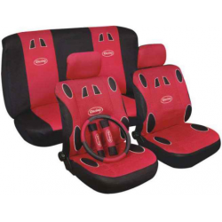 Užvalkalai sėdynėms (juodi/pilki)