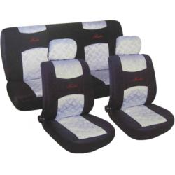 Užvalkalai sėdynėms (juodi/šviesiai mėlyni)