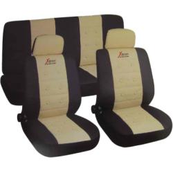 Užvalkalai sėdynėms (juodi/mėlyni)