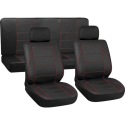 Užvalkalai sėdynėms (juodi/raudoni)