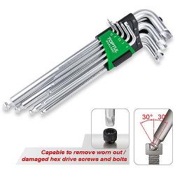 Šešiakampių raktų kompl. 9vnt 1.5-10mm