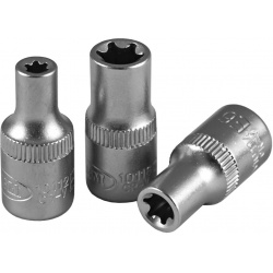 Galvutė 1/4 trumpa L=25mm E5 Torx tipo